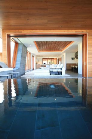 Contemporary Swimming Pool with Indoor pool