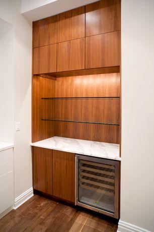 Contemporary Bar with Hardwood floors, High ceiling