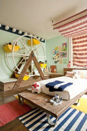 Kids Bedroom with Hardwood floors, Standard height, no bedroom feature, Paint