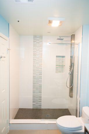 room with flush light, simple marble floors