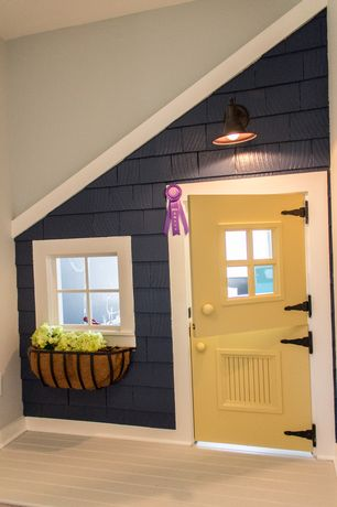 Craftsman Playroom with Deer park ironworks solera window box with coco liner, Feiss redding station ol860 wall lantern