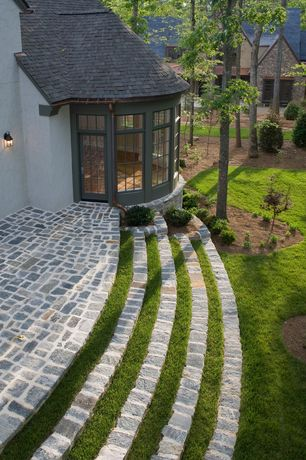 Traditional Patio with 1.5 gal. Wee Willie Boxwood Shrub, Trans Globe Lighting 45640 WB
