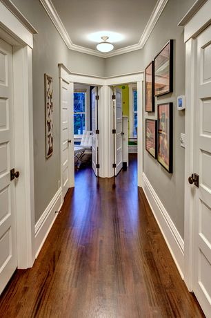 Traditional Hallway with Tigerwood - tigerwood natural 3 1/2 in. engineered hardwood plank