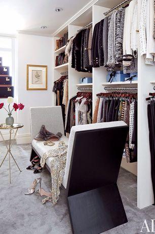 Traditional Closet with Closet max heavy duty chrome closet pole, Arleta spa bubble vase, Built-in bookshelf, Crown molding