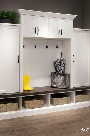 Traditional Mud Room with Sophisticates II 5 in. Enchanted Cabinet Hardware Appliance Pull, Paint 1, Standard height, Paint 2
