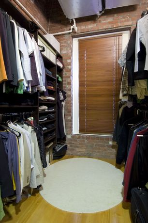 Eclectic Closet with Millstead Maple Latte 3/4 in. Thick x 3 1/4 in. Width x Random Length Solid Real Hardwood Flooring