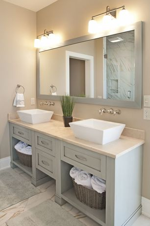 Mid range transitional bathroom design ideas pictures for Bathroom ideas zillow