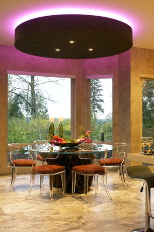 Contemporary Dining Room with complex marble floors, Fine Mod Imports Flat Bar Stool, Fantasia Dining Chair