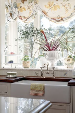 Traditional Kitchen with Kohler single bowl kitchen sink, Delta victorian bathroom faucet