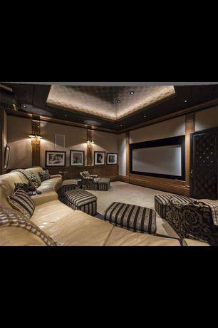 Contemporary room with Ballard Designs Customized File Storage Ottoman
