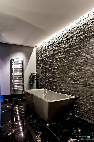 Contemporary Master Bathroom with Freestanding, Master bathroom, Marble Systems - Black Polished Marble Tiles 18x18
