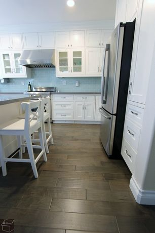 Cottage Kitchen with Farmstead Hickory 12 mm Thick x 6.06 in. Wide x 47.52 in. Length Laminate Flooring