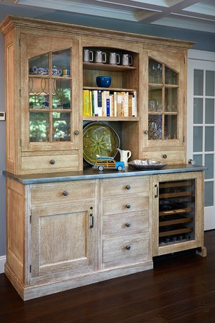 Traditional Kitchen with RH Clarendon Glass 4-Door Sideboard & Hutch