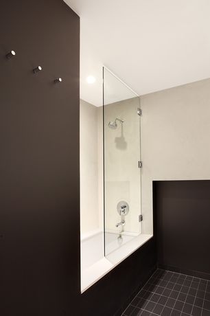 Contemporary Master Bathroom with Bathtub, Shower, Standard height, drop in bathtub, Paint 1, Paint 2, frameless showerdoor