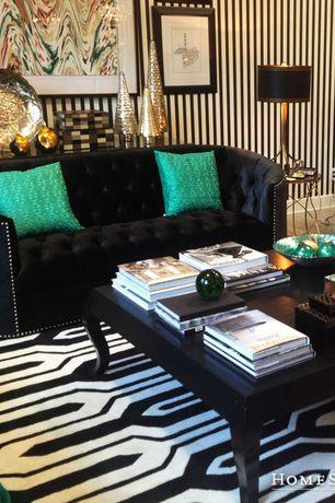 Eclectic Living Room with Wholesale Interiors - Baxton Studio Stapleton Modern Sofa, Carpet, interior wallpaper