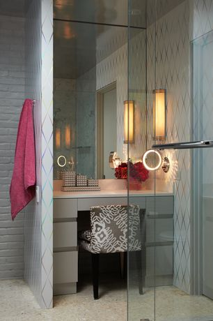 Contemporary Master Bathroom with Superior Building Supplies Dove White 32 in. x 47 in. x 3/4 in. Faux Reclaimed Brick Panel