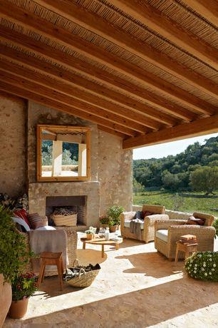 Contemporary Porch with exterior tile floors, exterior concrete tile floors, Paint, outdoor pizza oven