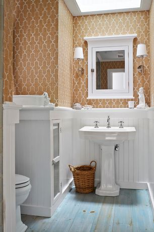 Cottage Powder Room With Builder 39 S Choice LWM 297 5 8 In X 3 In MDF