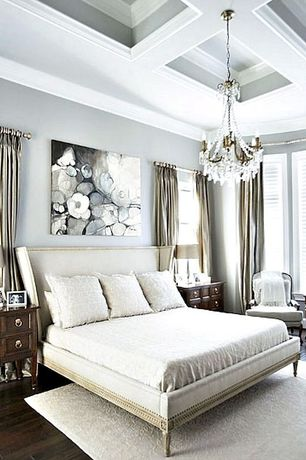 Traditional Master Bedroom with Hardwood floors, Crown molding, Bayonne French Country, MAISON PANEL BED WITHOUT FOOTBOARD
