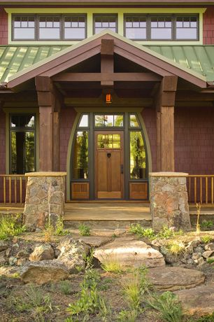 Craftsman Front Door with Pacific Entries Craftsman Rustic 6 Lite Stained Knotty Alder Wood Prehung Front Door, Pathway