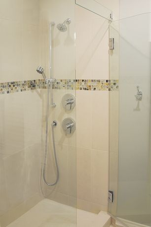 Modern Full Bathroom with Handheld showerhead, Full Bath, frameless showerdoor, Shower, Standard height