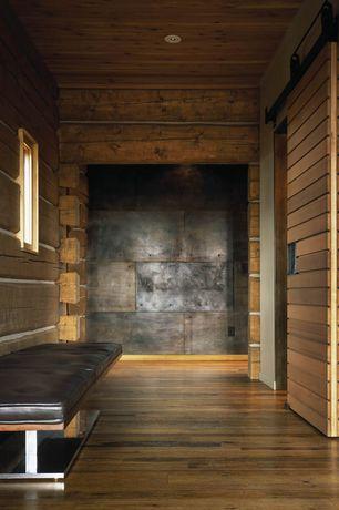 Contemporary Entryway with Birch - Artesian Peanut Shell 5 in. Engineered Hardwood Random Width Plank, specialty door