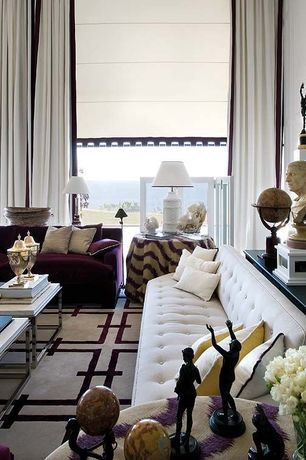 Eclectic Living Room with picture window, High ceiling, dania bloom sofa sand, Carpet