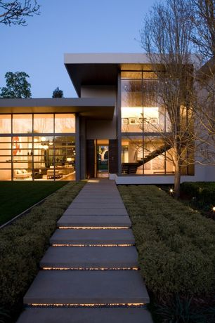Modern Front of Home with Stone stairs