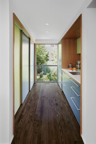 Contemporary Kitchen with Oak - Mocha 2 1/4 in. Solid Hardwood Strip