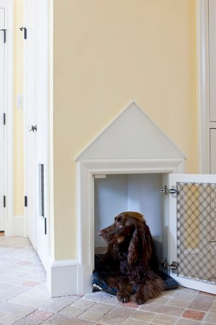 Traditional Entryway with Built-in dog house, Paint, Ms international - tumbled travertine tile in tuscany classic