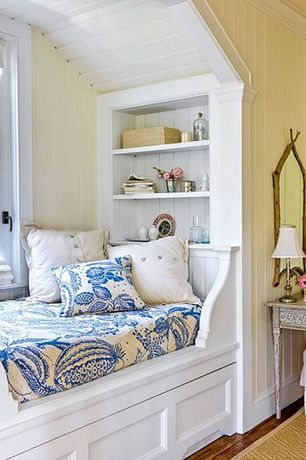 Cottage Master Bedroom with Hardwood floors, Antecks Rustic Carved Twig Mirror, COLOR-BOUND NATURAL SISAL RUG - CHINO