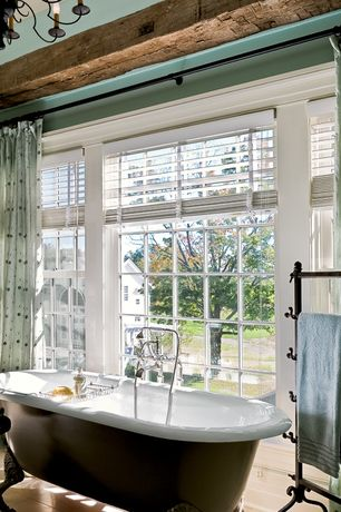 Traditional Master Bathroom with Tall Deck-Mount Telephone Tub Faucet & Hand Shower - Cross Handles