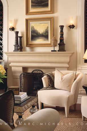 Traditional Living Room with Arched window, Paint 2, Hardwood floors, Crown molding, Fireplace, Wainscotting, Paint 3