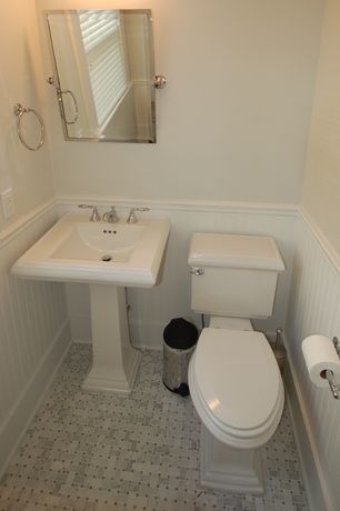 Traditional Powder Room with Kacy pedestal sink, Paint 1, Paint 2