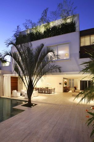 Modern Patio with Fence, Pathway, Casement, sliding glass door