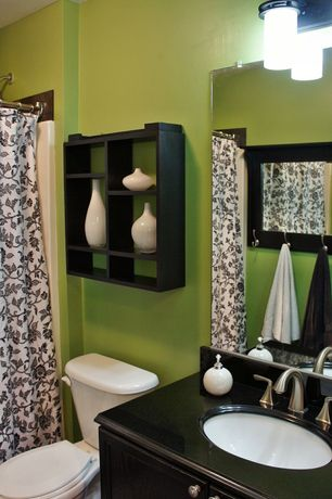 Eclectic Full Bathroom with Standard height, Shower, Undermount sink, Full Bath, Soapstone, Flat panel cabinets, Paint, Flush