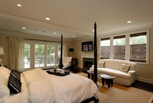 Traditional Master Bedroom with Nuloom handmade alexa eco natural fiber cotton border sisal rug (8' x 10'), Exposed beam