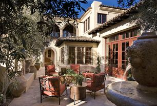 Mediterranean Patio with Paint