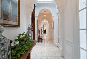 Traditional Hallway with Paint