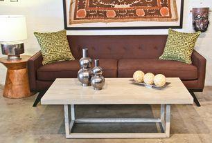 Contemporary Living Room with Gus modern drake coffee table, High Fashion Home Hourglass Stool, Luna Condo' Sofa
