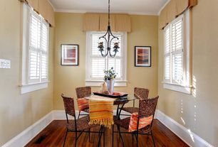 Contemporary Dining Room with Hardwood flooring