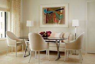 Contemporary Dining Room with Concrete tile