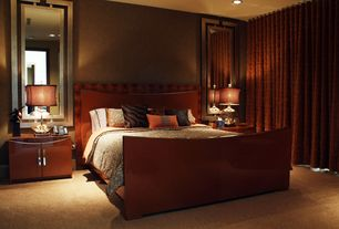 Contemporary Master Bedroom with Phillip Jeffries 4331 Suede Lounge Moody Mink, Carpet