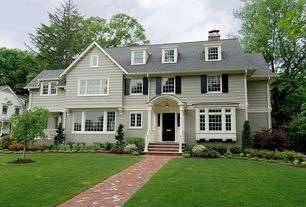 Traditional Exterior of Home with exterior brick floors, Pathway