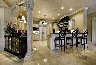 Traditional Kitchen with Pental - Lozoya Honed Limestone