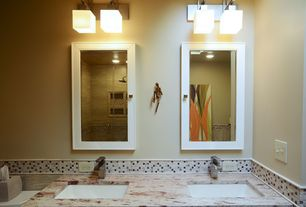 Contemporary Master Bathroom with Undermount sink, Master bathroom, High ceiling, Double sink, Rain shower