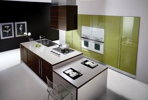 Contemporary Kitchen with Dura Supreme Cabinetry Soho - Horizontal Panel, Inmod chloe-c counter stool