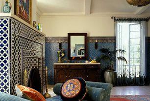 Mediterranean Master Bathroom with Ms international jerusalem bone limestone, Ms international sunny light limestone