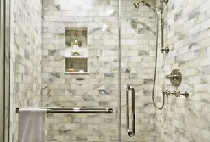 Full Bathroom with Rohl Perrin & Rowe Inclined Hand Held Shower Head and Hose
