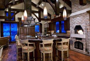 "Mediterranean Kitchen with Jasper Hardwood - Handscraped Oak Collection Malt / Oak / Builders / 5"""